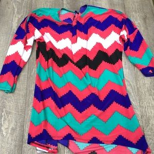 Mow brand size small colorful women's top